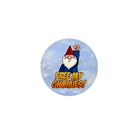 free my gnomies! Mini Button (10 pack)