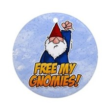 free my gnomies! Ornament (Round)