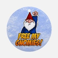 free my gnomies! Ornament (Round)