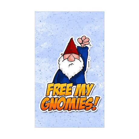 free my gnomies! Rectangle Sticker 10 pk)