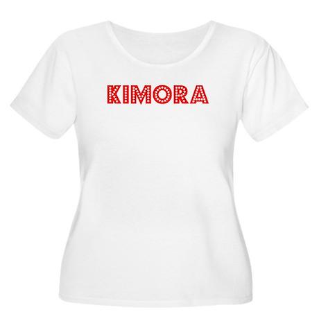 Retro Kimora (Red) Women's Plus Size Scoop Neck T-