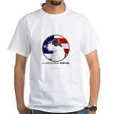 American staffordshire terrier Mens White T-shirts