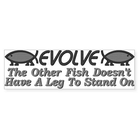 Evolve Fish Bumper Sticker