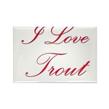 I Love Trout Rectangle Magnet