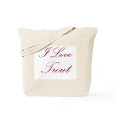 I Love Trout Tote Bag