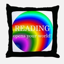 Reading World Throw Pillow