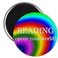"""Reading World 2.25"""" Magnet (100 pack)"""