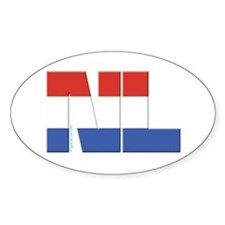 Netherlands / Holland Oval Decal