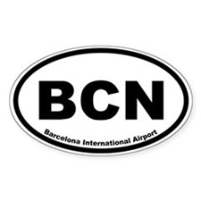 Barcelona International Airport Oval Decal