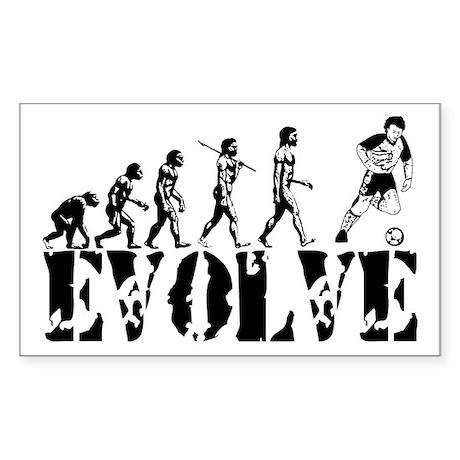 Soccer Evolution Rectangle Sticker