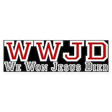 W. W. J. D. Bumper Bumper Sticker