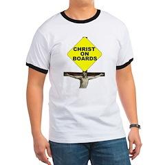 Christ On Boards Ringer Tee Shirt