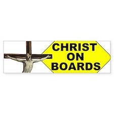 Christ On Boards Bumper Bumper Sticker