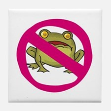 No Frogs Tile Coaster