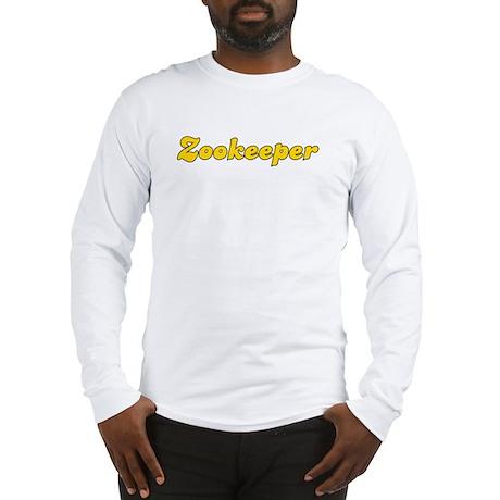 Retro Zookeeper (Gold) Long Sleeve T-Shirt