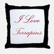 I Love Terrapins Throw Pillow