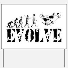 Skateboarding Evolution Yard Sign