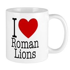 I Love Roman Lions Small 11oz Mug