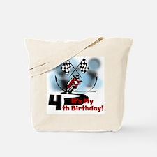 Motorcycle Racing 4th Birthday Tote Bag