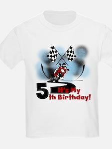 Motorcycle Racing 5th Birthday T-Shirt