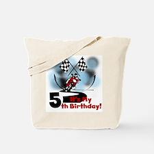 Motorcycle Racing 5th Birthday Tote Bag