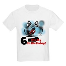 Motorcycle Racing 6th Birthday T-Shirt