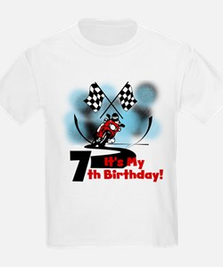 Motorcycle Racing 7th Birthday T-Shirt