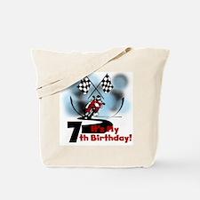 Motorcycle Racing 7th Birthday Tote Bag
