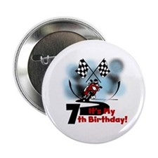 "Motorcycle Racing 7th Birthday 2.25"" Button"