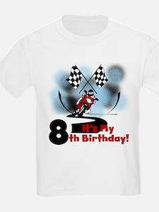 Motorcycle Racing 8th Birthday T-Shirt