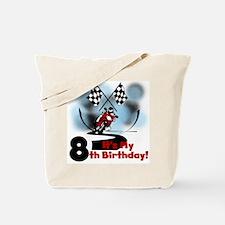 Motorcycle Racing 8th Birthday Tote Bag