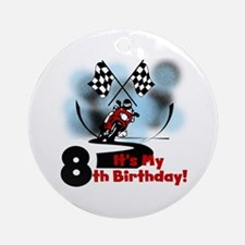 Motorcycle Racing 8th Birthday Ornament (Round)