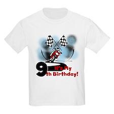 Motorcycle Racing 9th Birthday T-Shirt
