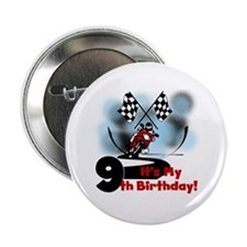 "Motorcycle Racing 9th Birthday 2.25"" Button"
