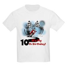 Motorcycle Racing 10th Birthday T-Shirt