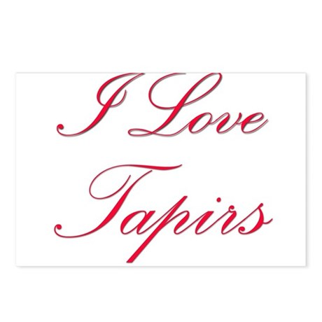 I Love Tapirs Postcards (Package of 8)