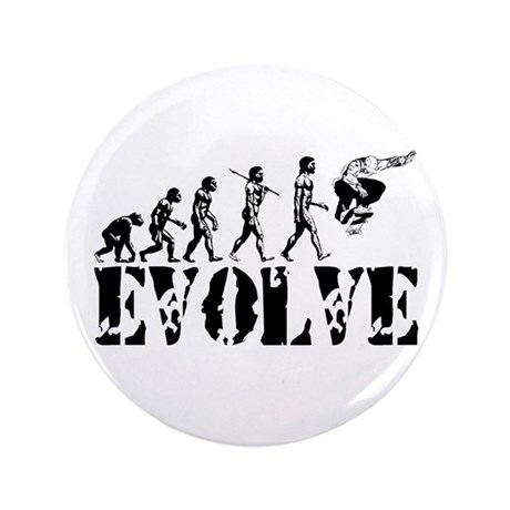 """Skateboarding Evolution 3.5"""" Button (100 pack)"""