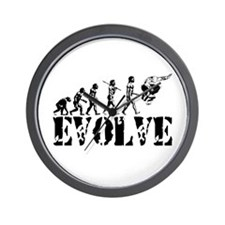 Skateboarding Evolution Wall Clock