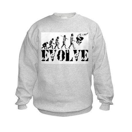 Skateboarding Evolution Kids Sweatshirt