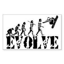 Snowboarding Evolution Rectangle Bumper Stickers