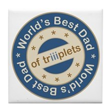 World's Best Dad of Triplet Boys Tile Coaster