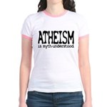 Atheism Myth-Under Jr Ringer T-Shirt