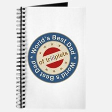 World's Best Dad of Triplets Boys Girl Journal