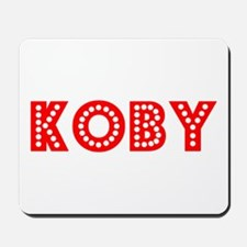 Retro Koby (Red) Mousepad