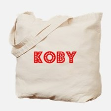Retro Koby (Red) Tote Bag