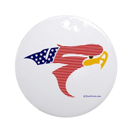 USA- Bald Eagle 2 Ornament (Round)