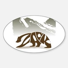 Zack (Brown Bear) Oval Decal