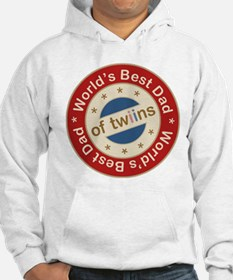 World's Best Dad of Twin Boy Girl Hoodie