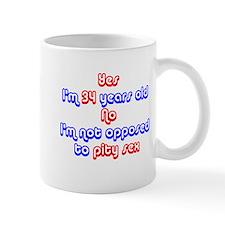 34th birthday pity sex Mug