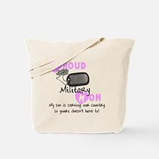 Proud Military Mom Tote Bag